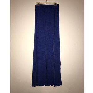 NWOT American Eagle Sapphire Blue Slit Maxi Skirt